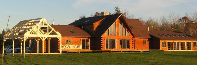 Model Exterior with Timberframe