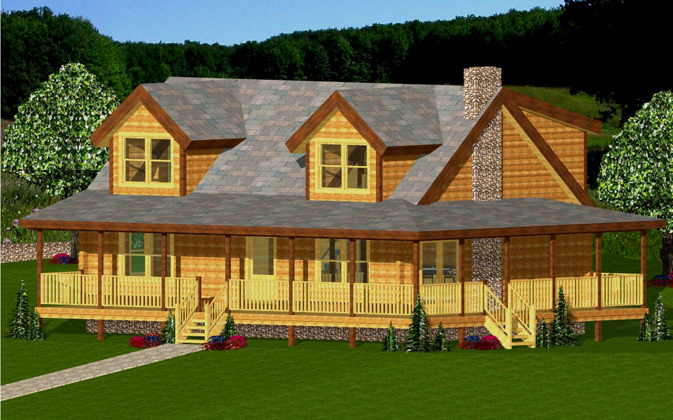 The Big Androscoggin Hilltop Log Amp Timber Homes