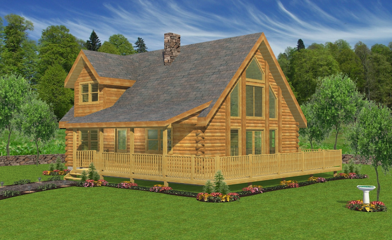 The Summit Hilltop Log Timber Homes
