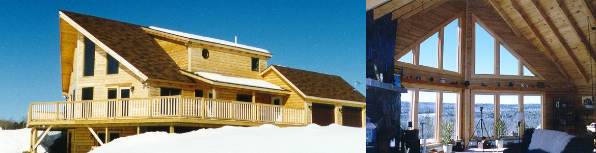 Hilltop Log And Timber Homes Maine, Log Home Packages, Custom Log Home  Plans, Design Build Green Products ME